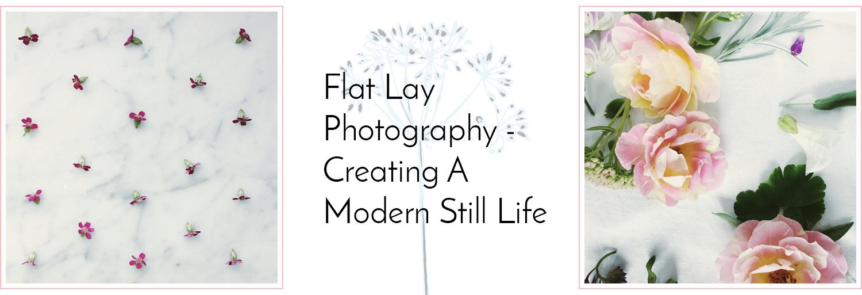 Floral flat lay composition - grid vs lifestyled arrangement.
