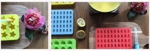 Silicon moulds for making healthy homemade gummy bears. | PearTreePond Blog #gummybears #anti-inflammatory #healthy #homemade