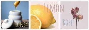 Ingredients for healthy homemade gummy bears: honey, lemon, rose water. | PearTreePond Blog #gummybears #antiinflammatory #treats #lollies