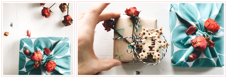Eco-friendly gift wrap ideas. | PearTreePond Blog #creative #ecofriendly #giftwrap #giftwrapping