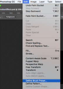 Create your own Photoshop brushes.