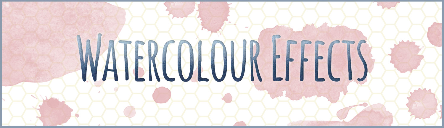 Use watercolour effects on typography and custom shapes