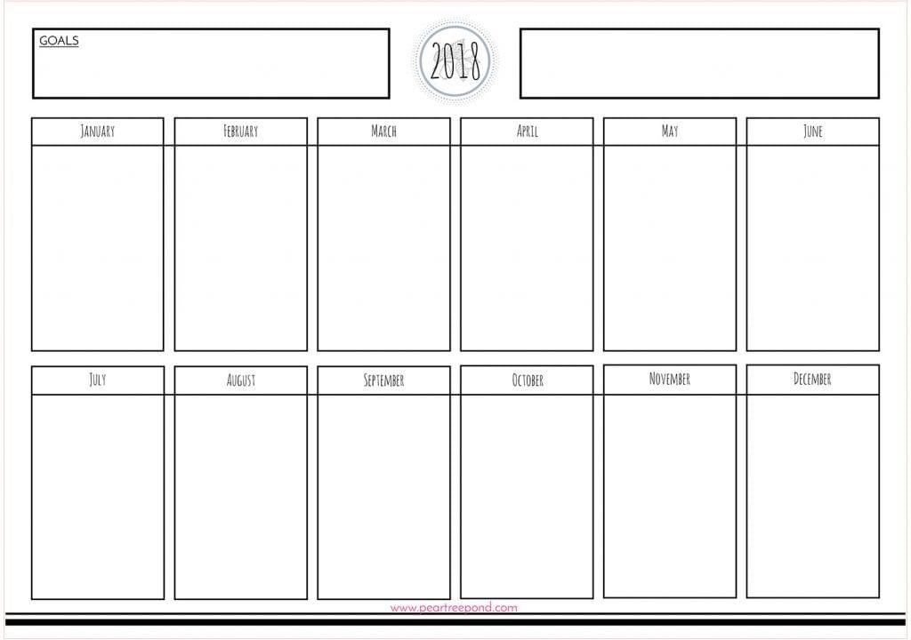Annual master plan calendar.