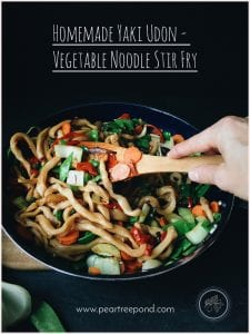 Homemade Yaki Udon - A Japanese stir fry with Udon noodles and vegetables.
