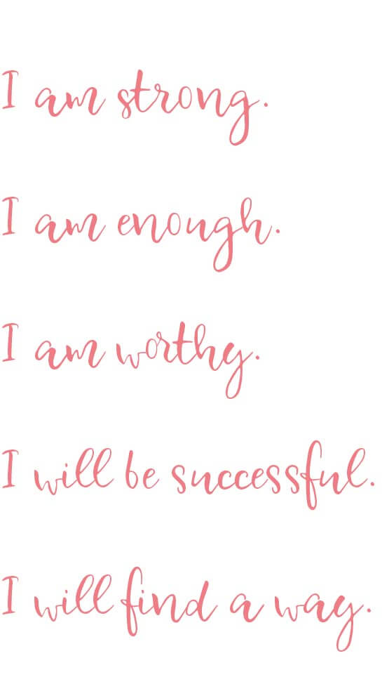 Positive affirmations to overcome limiting beliefs. | PearTreePond - The Solopreneur Safety Net