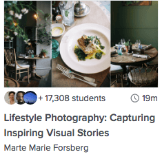 Lifestyle Photography: Capturing Inspiring Visual Stories - Skillshare Class by Marte Marie Forsberg | PearTreePond - The Solopreneur Safety Net