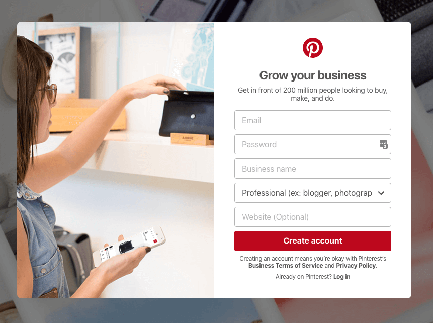 Personal Details you need to provide on the Pinterest business account sign-up form. | PearTreePond - The Solopreneur Safety Net
