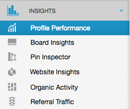Tailwind for Pinterest - Overview Tailwind Insights settings: Profile Performance, Board Insights, Pin Inspector, Website Insights, Organic Activity, Referral Traffic.   PearTreePond - The Solopreneur Safety Net