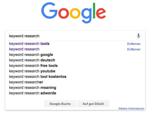 Keyword planners: Google autosuggest example | PearTreePond - The Solopreneur Safety Net
