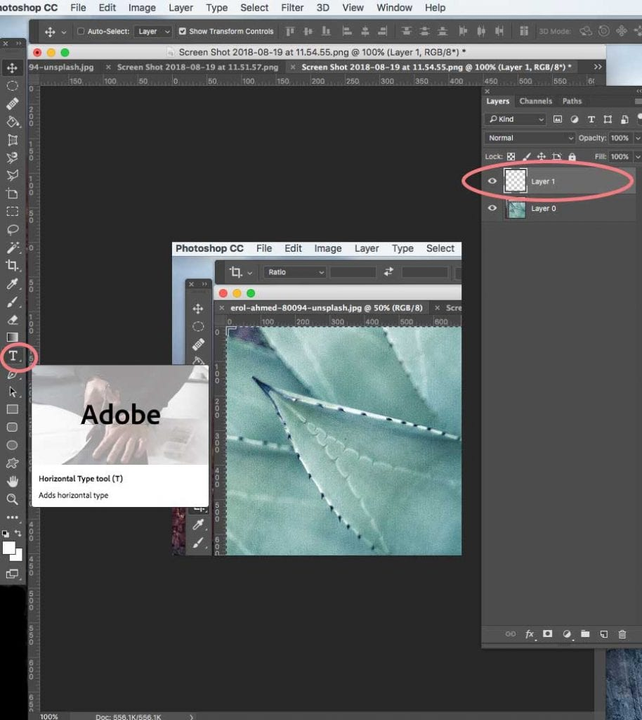How to add a text overlay in Photoshop   PearTreePond - The Solopreneur Safety Net