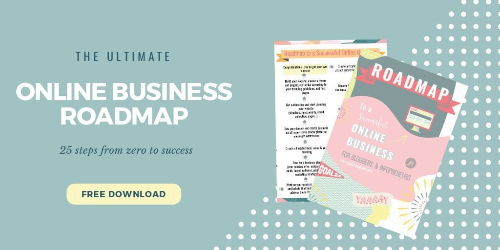 The ultimate online business roadmap mock-up post | PearTreePond - The Solopreneur Safety Net