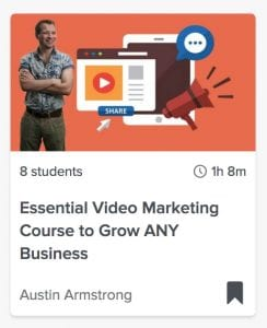 Essential video marketing course to grow any business; Skillshare class