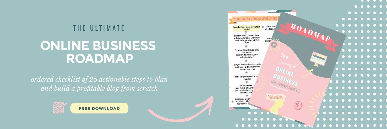 Online business roadmap free download; hero | The Solopreneur Safety Net