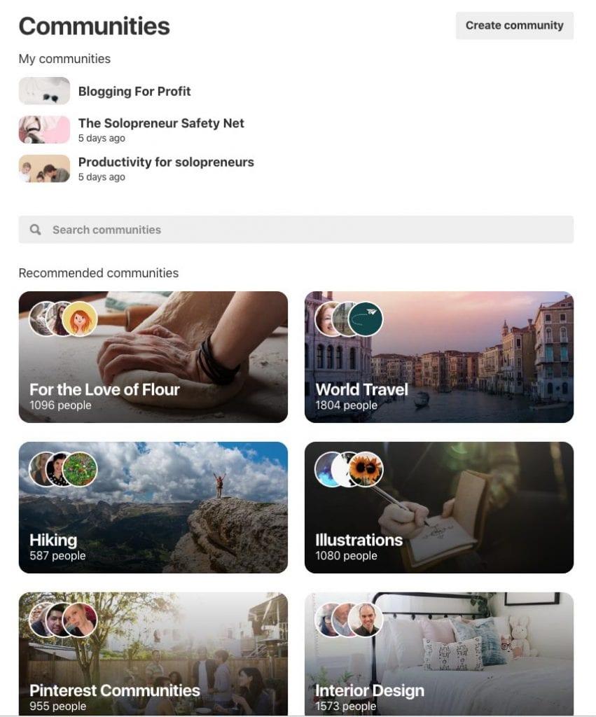Inside the Pinterest Communities feature