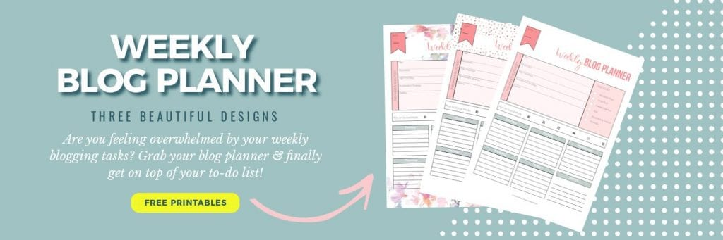 Weekly blog planner in three designs; Frontpage   PearTreePond - The Solopreneur Safety Net