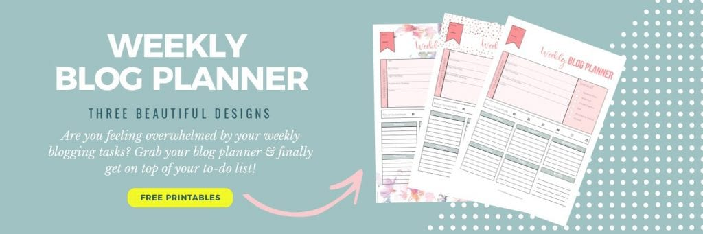 Weekly blog planner in three designs; Opt-In   PearTreePond - The Solopreneur Safety Net