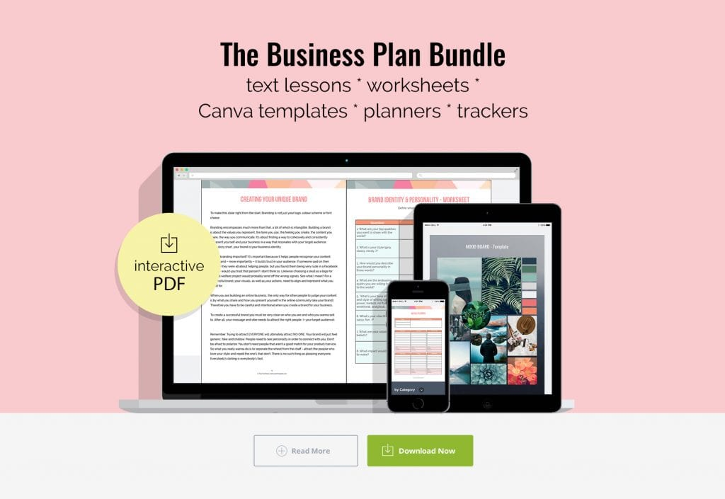 "Mock up ""Work From Home Made Easy"" Business Plan Bundle"