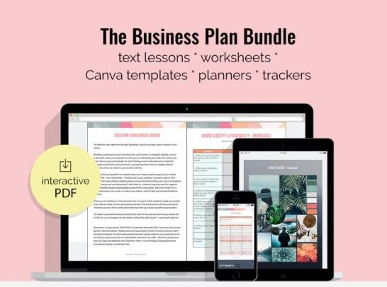 """Mock up """"Work From Home Made Easy"""" Business Plan Bundle"""