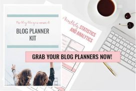 Blog planners on desk - Grab your blog planner set now! | PearTreePond - The Solopreneur Safety Net