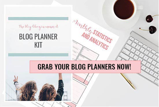 Blog planners on desk - Grab your blog planner set now!   PearTreePond - The Solopreneur Safety Net