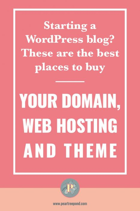 Best places to buy a domain, web hosting and a theme for your new WordPress blog