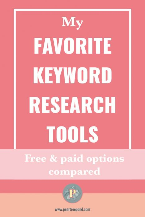 Keyword research tools comparison; Pin image