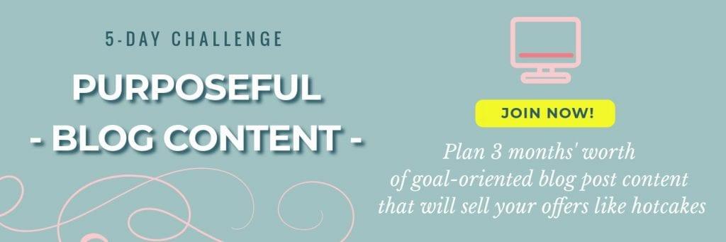 Blog content challenge sign up image