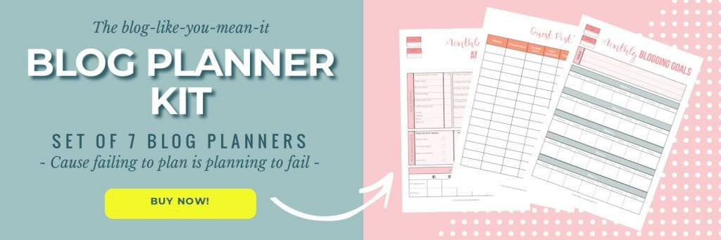 Blog-like-you-mean-it blog planner kit