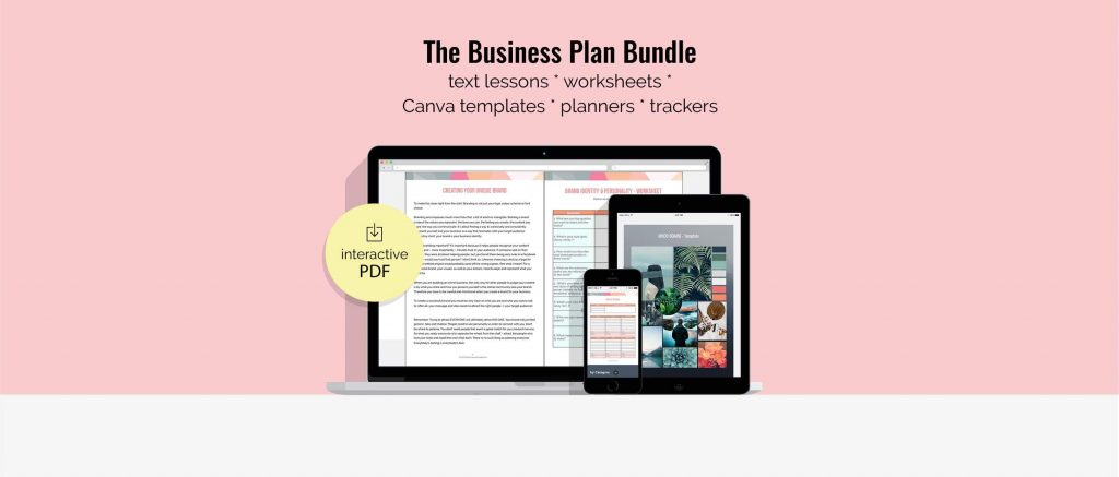 Business Plan Bundle Mockup Header