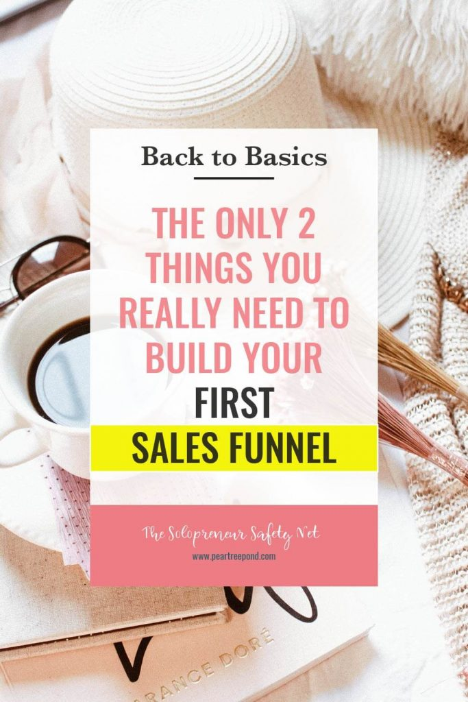 Beginner's Guide to Building A Sales Funnel; Pin image