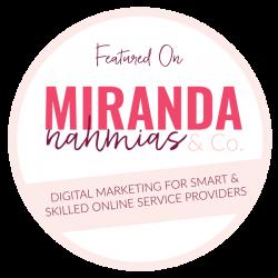 Featured on Miranda Nahmias & Co