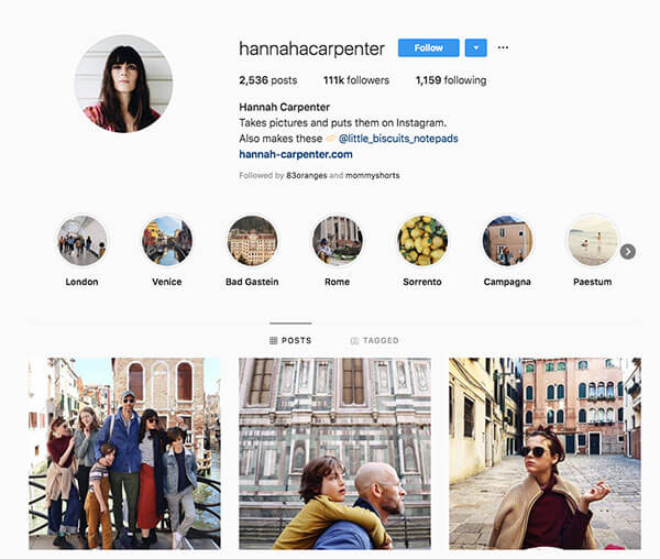 Top Mommy Bloggers on Instagram: Hannah Carpenter
