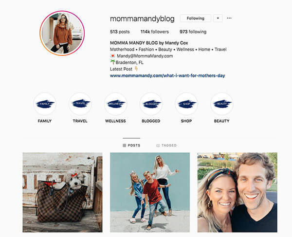 Top Mommy Bloggers on Instagram: Mandy Cox