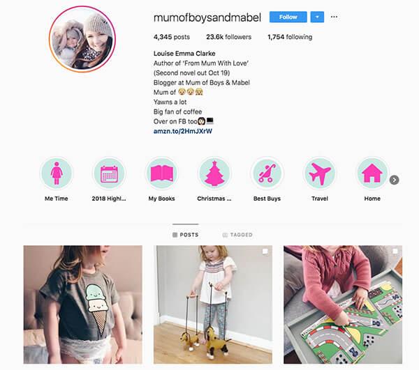Top Mommy Bloggers on Instagram -  Louise Emma Clarke