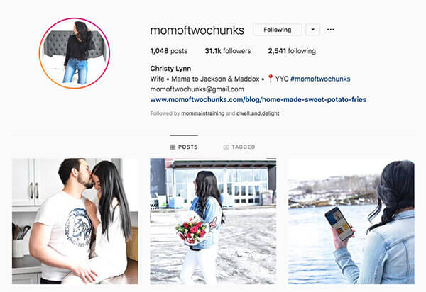 Top Mommy Bloggers on Instagram - Christy Lynn