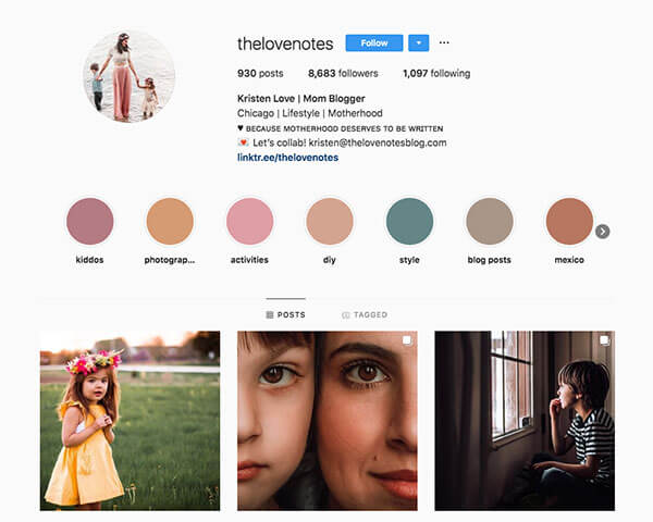 Top Mommy Bloggers on Instagram - Kristen Love