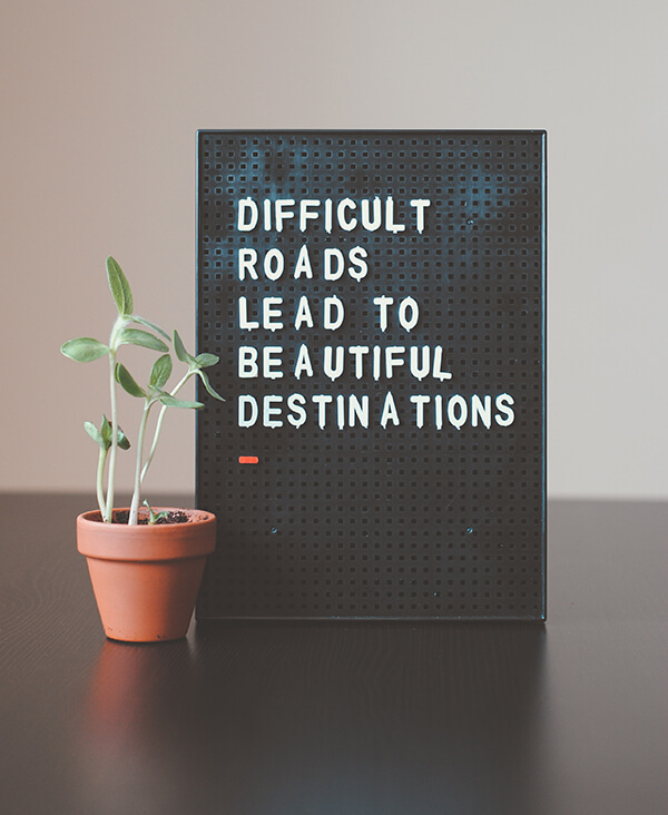 Staying motivated against all odds; quote