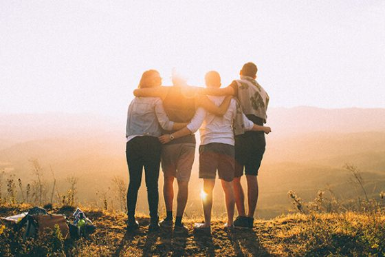 Group of friends; building rapport with your audience; featured image