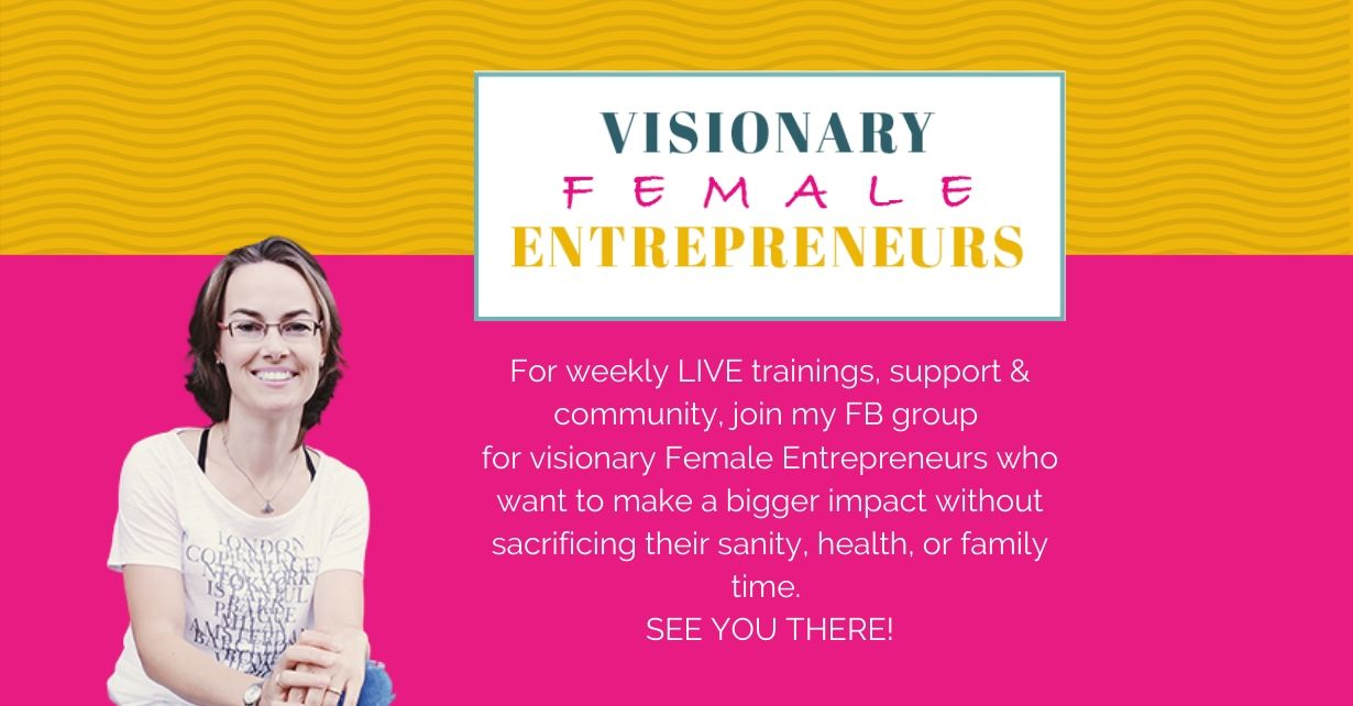 FB group for visionary female entrepreneurs